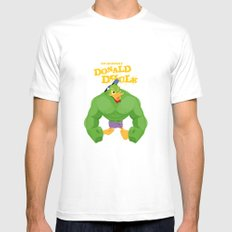 coupling up (accouplés) Donald Dhulk White SMALL Mens Fitted Tee