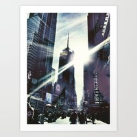 New York by iPhone 3 Art Print