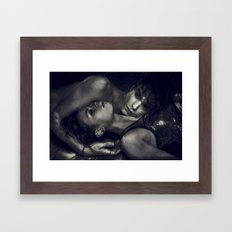 into the stars we fade Framed Art Print
