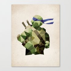 Polygon Heroes - Leonardo Canvas Print