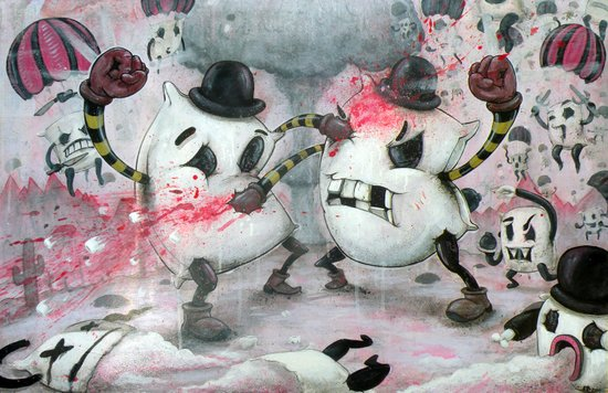 Pillow Fight!!! Art Print