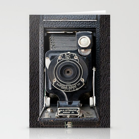 Vintage Autographic Kodak Jr. Camera Stationery Card