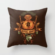 Throw Pillow featuring Royal Army by Hillary White