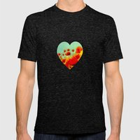 FLOWERS - Poppy time Mens Fitted Tee Tri-Black SMALL