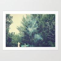 Through Smoke Art Print