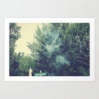 Through Smoke Art Print