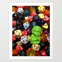 Little Bu Gaming Art Print