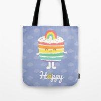 Happy Rainbow Cake Tote Bag