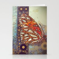 Golden Butterfly Stationery Cards