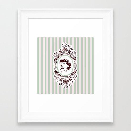 Pretty Woman Framed Art Print