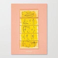 Wooden Faces Canvas Print