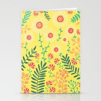 A Yellow Flowery Pattern Stationery Cards