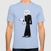 The Halloween Series - Nosferatu Mens Fitted Tee Tri-Blue SMALL