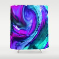 Turquiose And Purple Abs… Shower Curtain