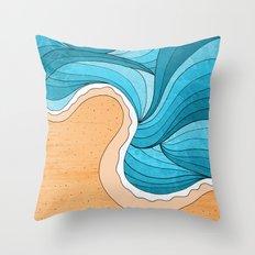 Beach Tide Throw Pillow