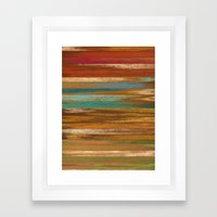 wood panel multicolor Framed Art Print