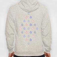 Rose quartz, serenity blue and lilac grey raindrops Hoody