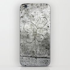 Sidewalk Flower iPhone & iPod Skin