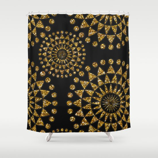 Gold And Black Elegance Shower Curtain By LebensARTdesign Society6