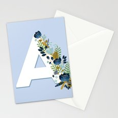 Floral alphabet Stationery Cards