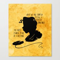The First, Painful Stage of a Blessing Canvas Print