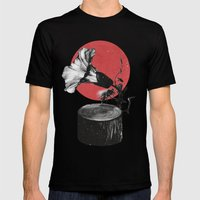 Gramophone Mens Fitted Tee Black SMALL