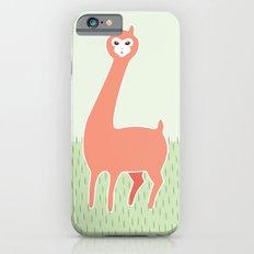 Green Meadows and a Peach Alpaca iPhone 6 Slim Case