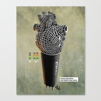 CRZN Dynamic Microphone … Canvas Print