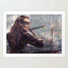 Warrior Lexa Art Print