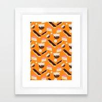 sweet things (on orange) Framed Art Print