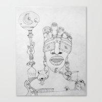 Face Balloon Canvas Print