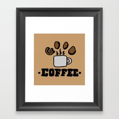 good coffee Framed Art Print