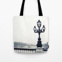 Paris Lamp, Pont Alexandre Tote Bag