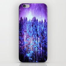 Turquoise Trees Purple Space iPhone & iPod Skin