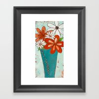 Rustic Flowers Framed Art Print
