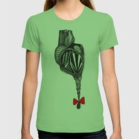 Hairy Heart Womens Fitted Tee Grass SMALL