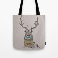 Deer Pug Tote Bag