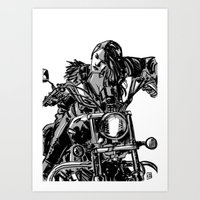 Gang Girl Art Print
