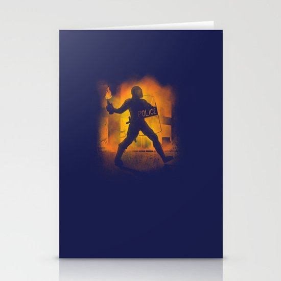 Riot Cop Stationery Card
