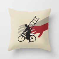 Ladri Di Biciclette Throw Pillow