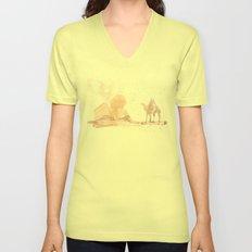 Watercolor landscape illustration_Egypt Unisex V-Neck