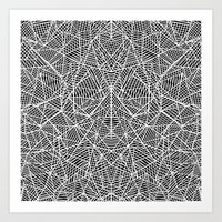 Abstract Lace on Black Art Print