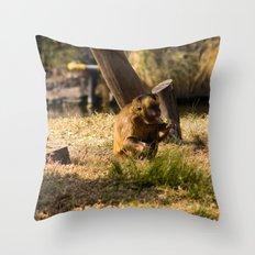 Monkey Business II Throw Pillow