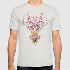 Spring Deer Mens Fitted Tee Silver SMALL