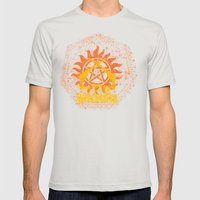 Non Timebo Mala Mens Fitted Tee Silver SMALL
