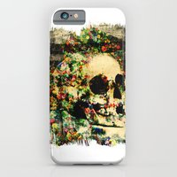 iPhone & iPod Case featuring floral skully 2 by frederic levy-hadida