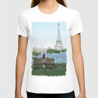 Paris Womens Fitted Tee White SMALL