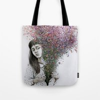 I tried to draw my soul but all I could think of was flowers Tote Bag