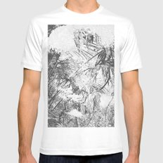 abstract nature Mens Fitted Tee White SMALL