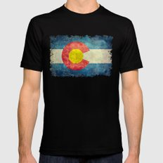 Colorado flag SMALL Mens Fitted Tee Black